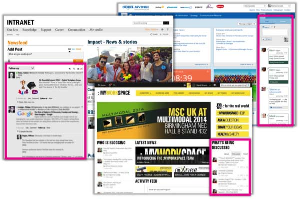 10 examples of bringing social onto the intranet homepage