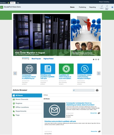 sharepoint department site template