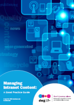 DWG - Managing Intranet Content - Executive Summary - cover
