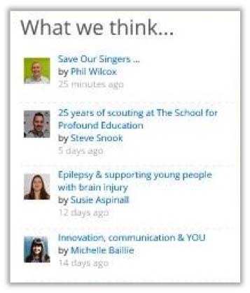 Children's Trust intranet homepage social analysis